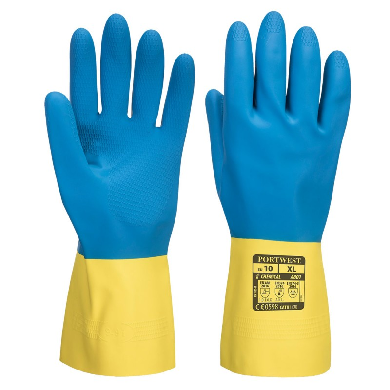 Double-sided latex gloves