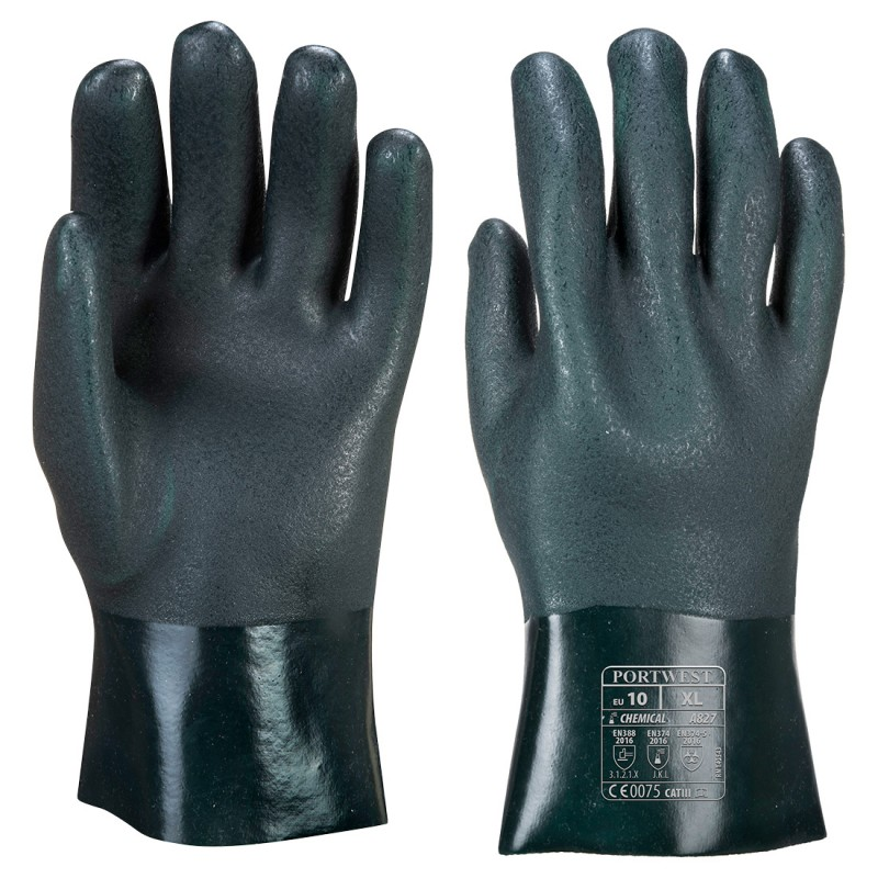 PVC gloves 27cm double dipped