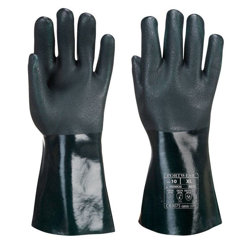 PVC gloves 35cm double dipping