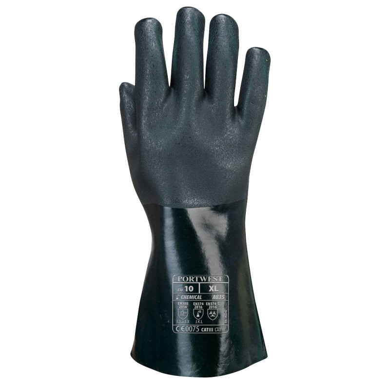 PVC glove 35cm double dipping