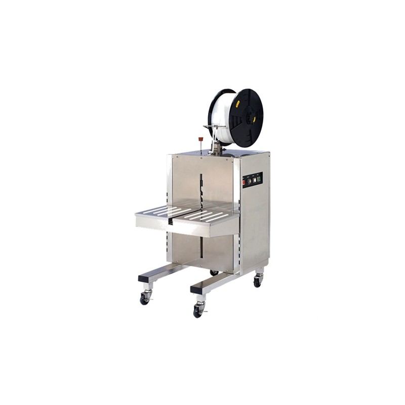 Vertical stainless steel strapping machine