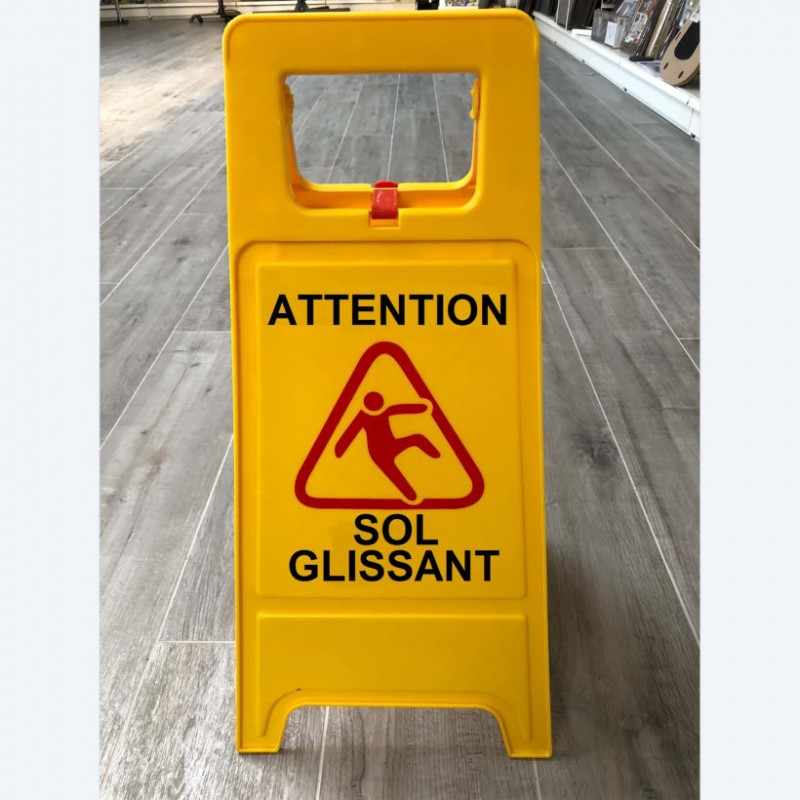 Signaling easel « Sol glissant »