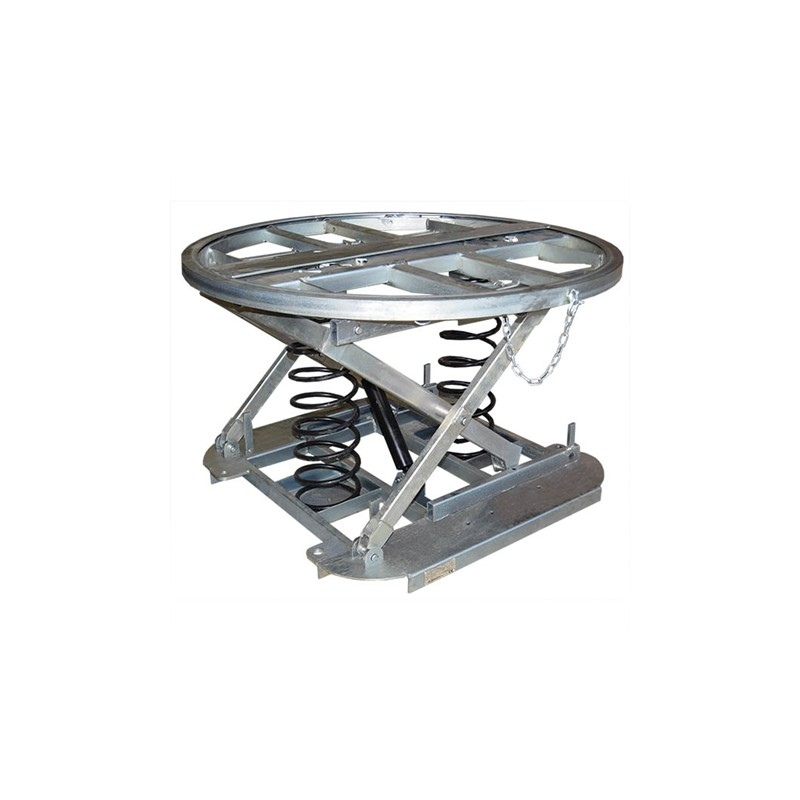 SLT2-1100 Lifting table with constant level galvanized rotary platform 2000 kg / 2 tons