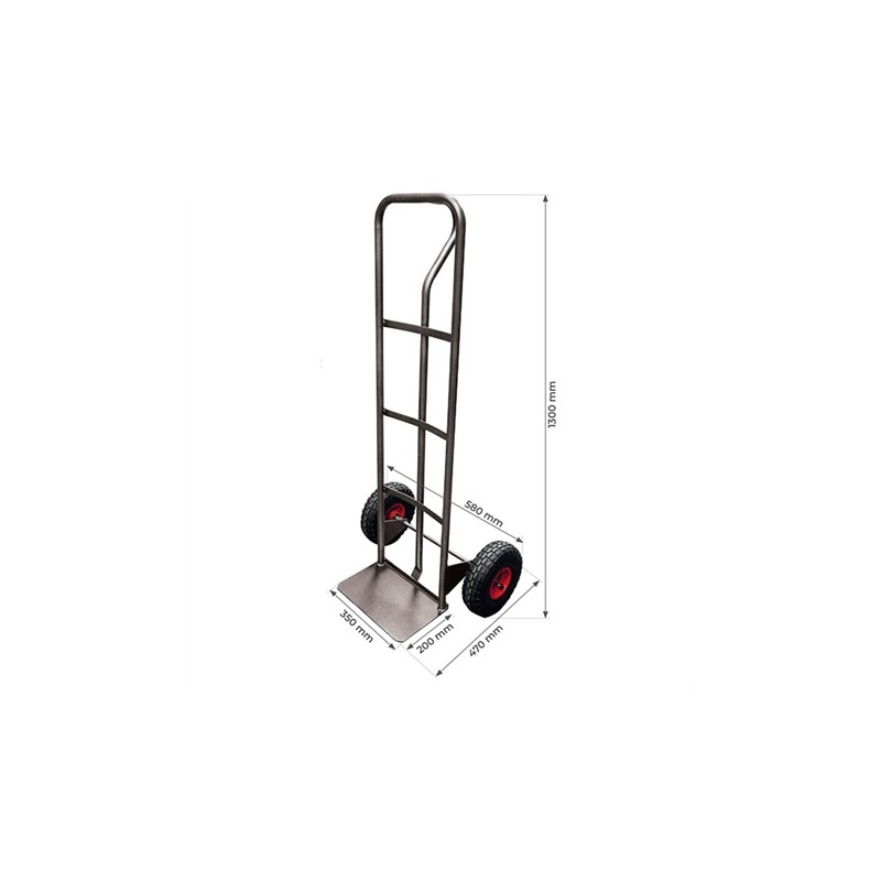 One hand steel truck 200 kg puncture proof wheels (RINC)